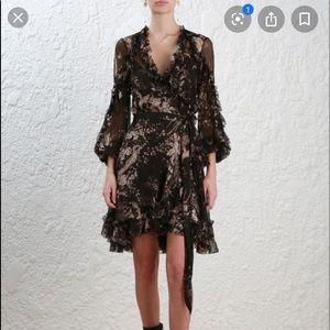 NWT- Zimmermann floral silk dress
